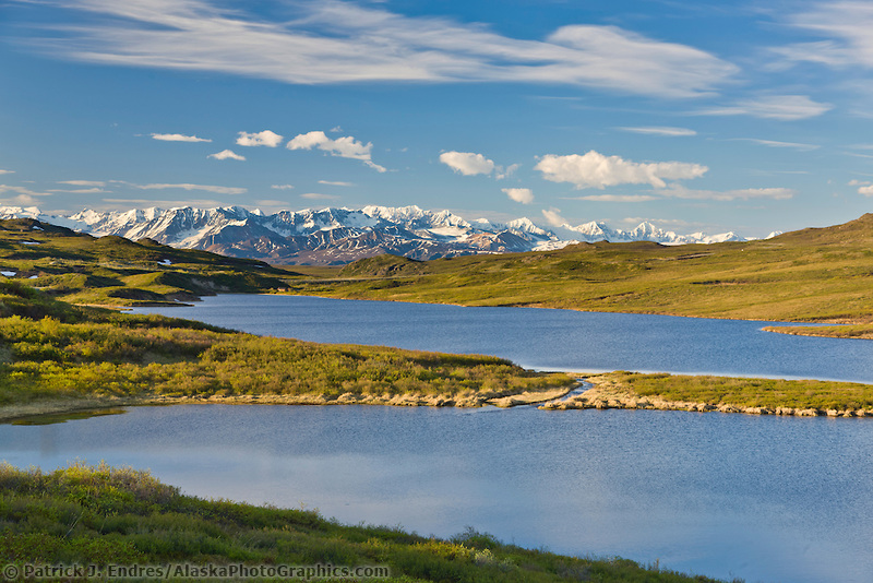 Tundra lake, Alaska range