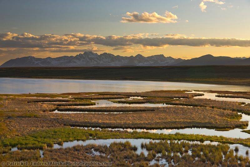 Wetlands and Clearwater mountains, Alaska range