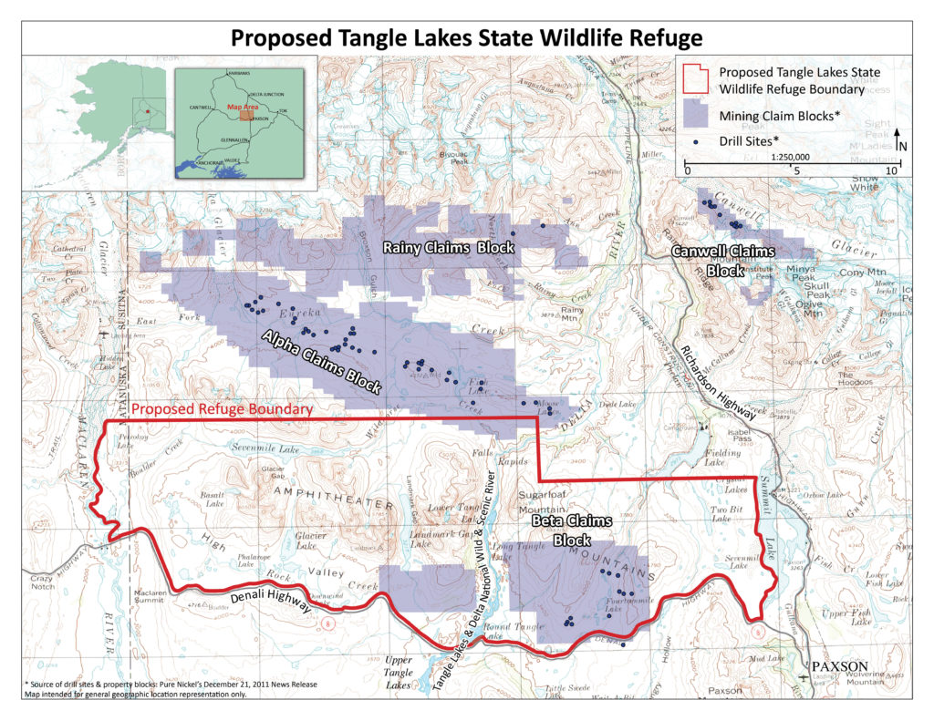 Proposed State Wildlife Refuge map