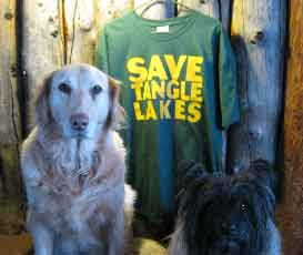 Save Tangle Lakes teeshirt - front